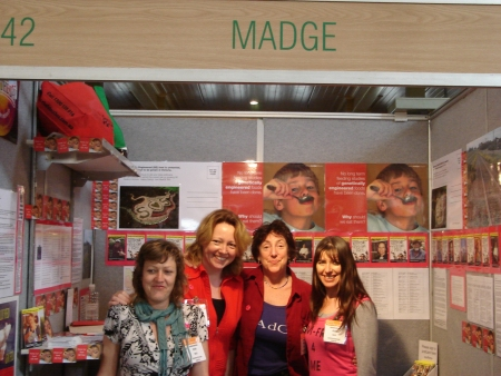Madge at the Organic Expo