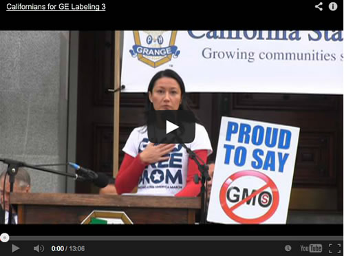 CA State Grange Rally for GE Labeling Jan 6th CA Capitol Steps- Zen Honeycutt's Speech